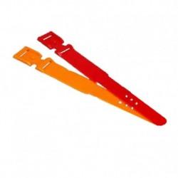 Correas de identificación plásticas Naranjas x 10und